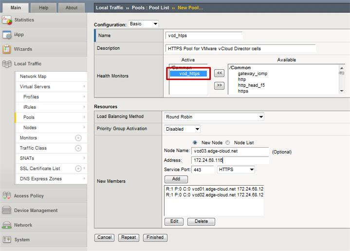 Configuring F5 Big-IP LTM with VMware vCloud Director [Updated