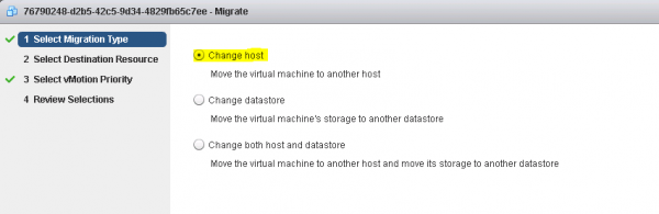 Figure 7: Perform a VMotion of an OpenStack VM - Step 2