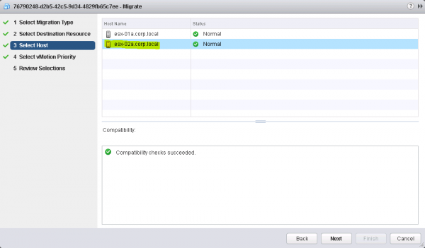 Figure 9: Perform a VMotion of an OpenStack VM - Step 4