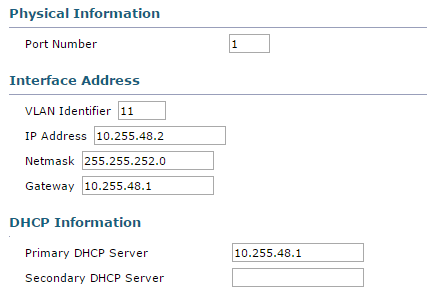 Figure 8: Cisco WLC Interface configuration