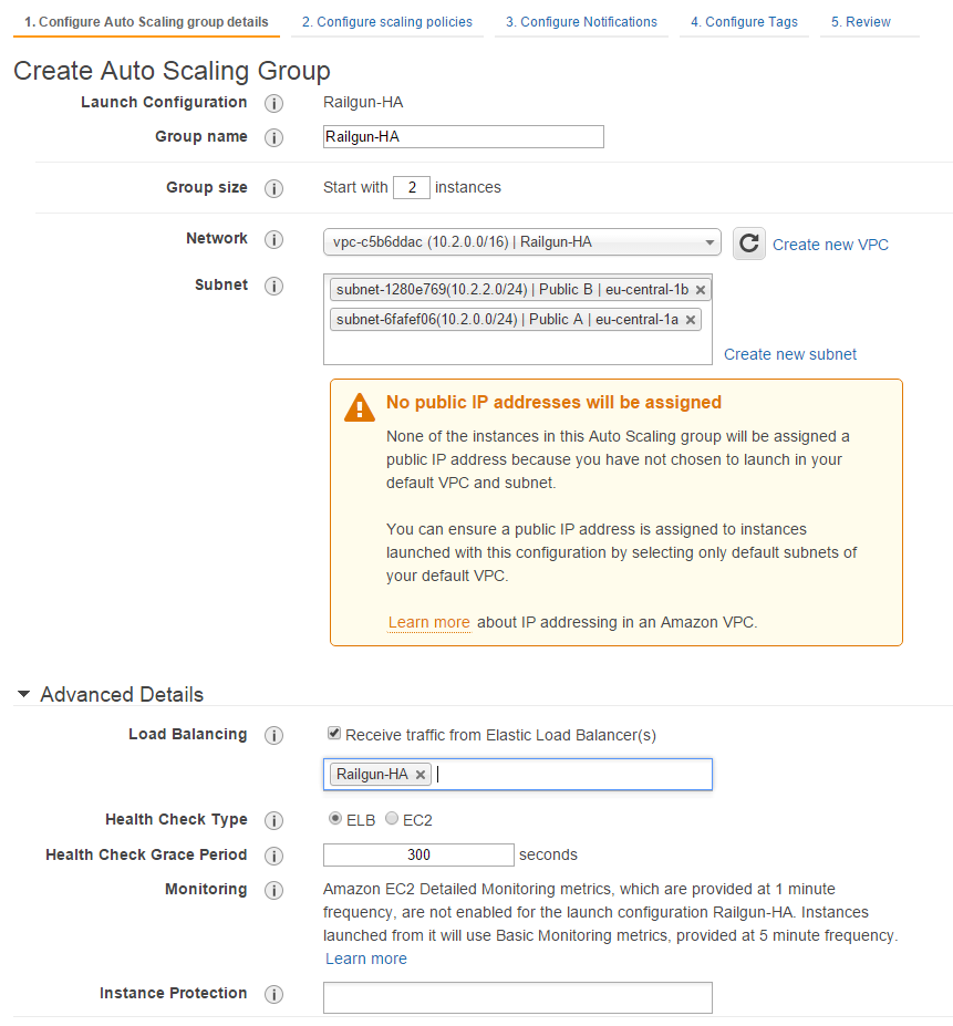 Figure 26: Create an Auto Scaling Group - Step 1