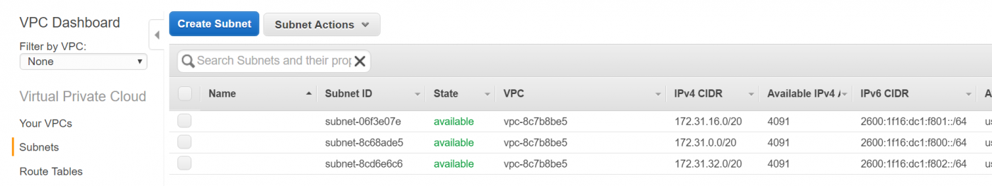 IPv6 with Amazon Web Services VPC and EC2 - Edge Cloud